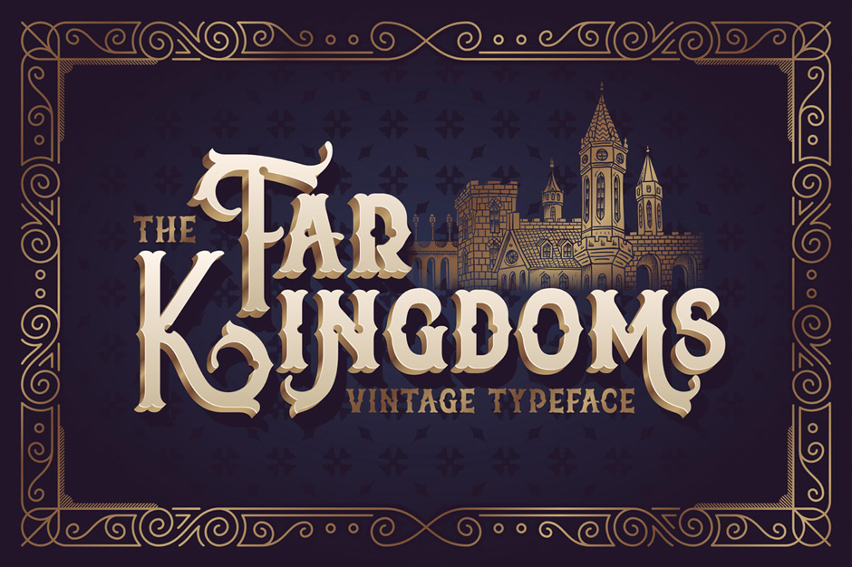 The Far Kingdoms Vintage Font
