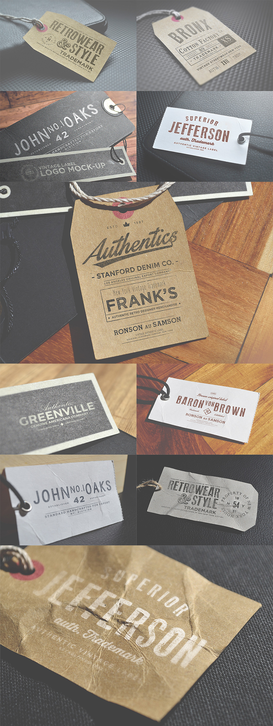 Logo Labels Mockups