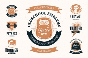 Retro Gym Logo Templates