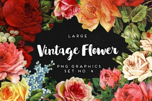 Vintage Flower Graphics No. 4