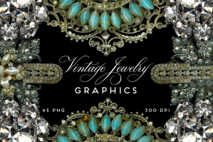 Vintage Jewelry & Rhinestone Graphics