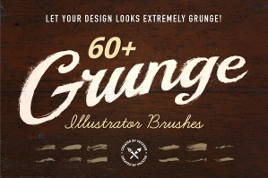 Free: 60 Grunge Illustrator Brushes