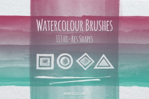 113 Hi-Res Watercolour Brushes