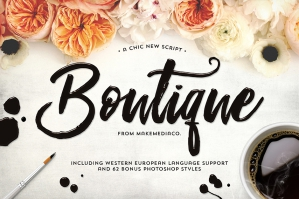 Boutique Script with PSD Styles
