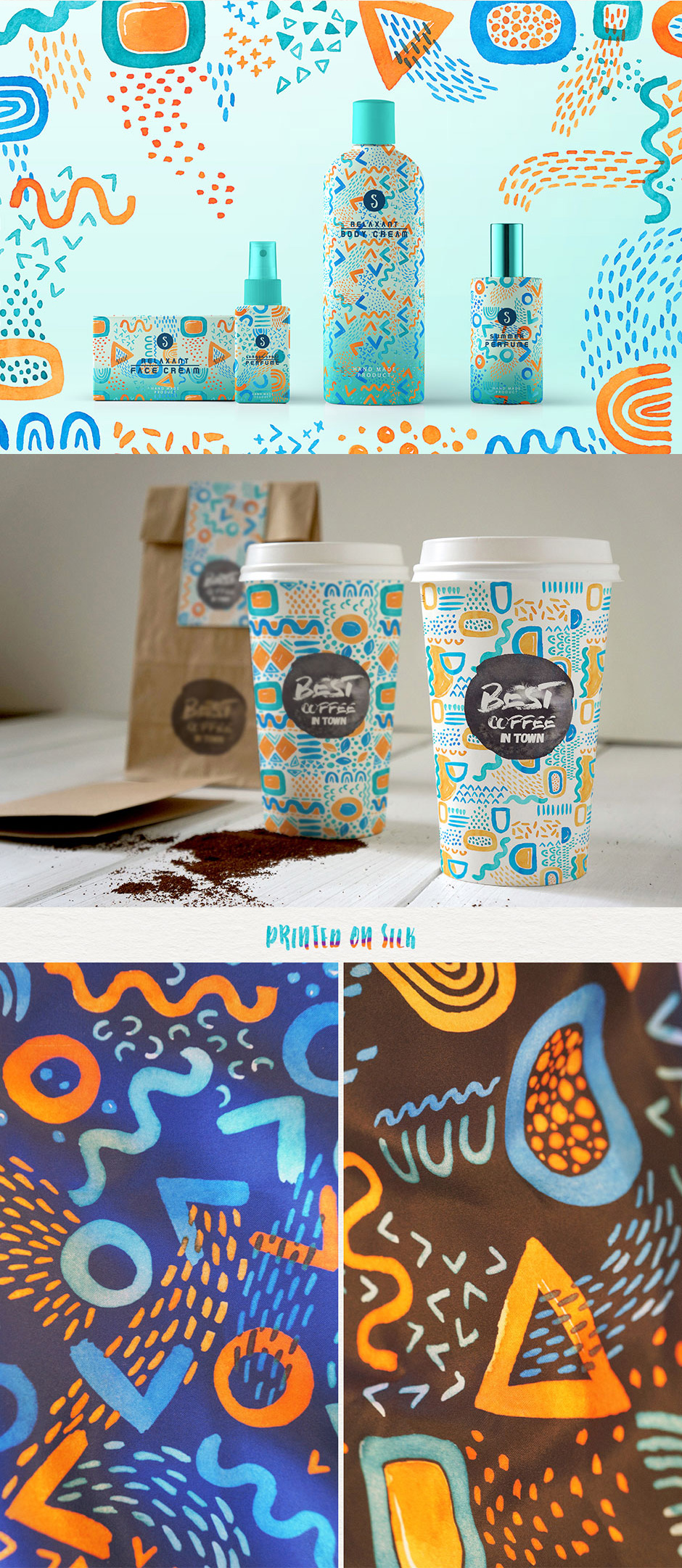 Catch The Wave Seamless Patterns