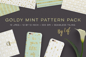 Gold And Mint Pattern Pack