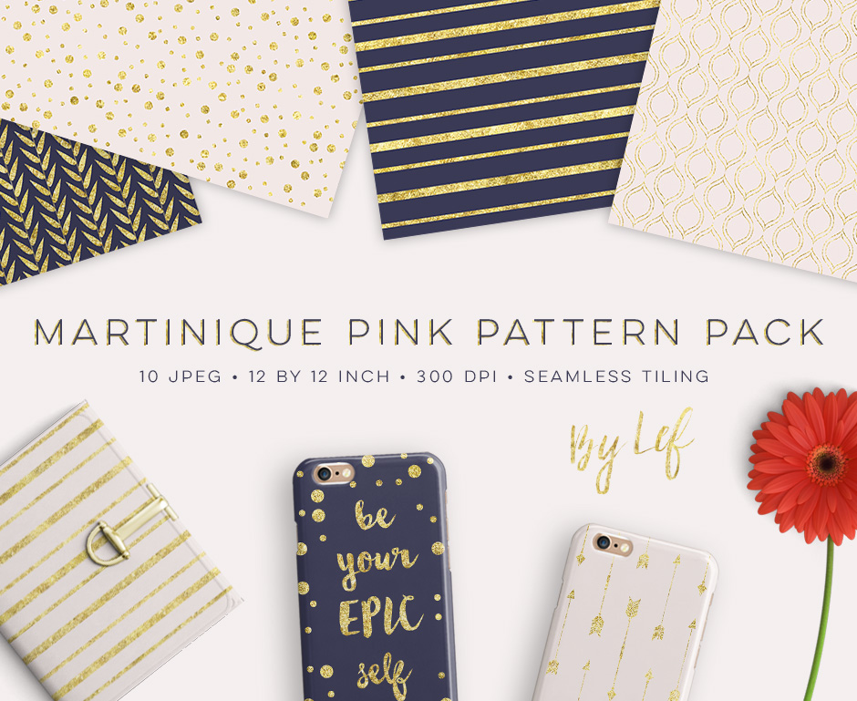 Martinique Pink Pattern Pack