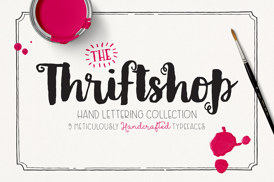 Thriftshop Hand Lettering Font Collection