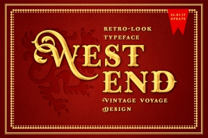 West End Stout Display Font