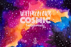 Watercolor Cosmic Backgrounds