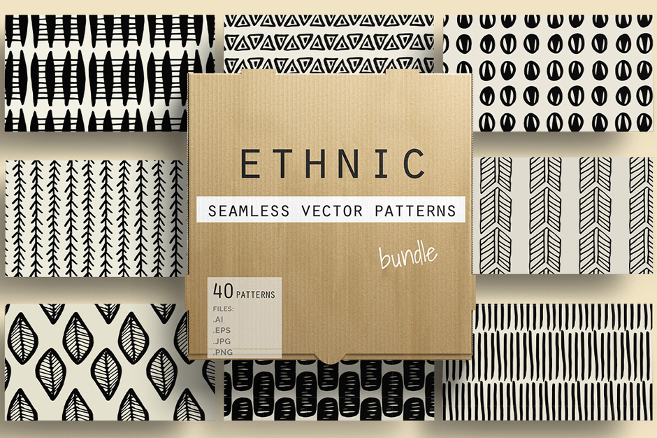 Seamless Vector Ethnic Patterns