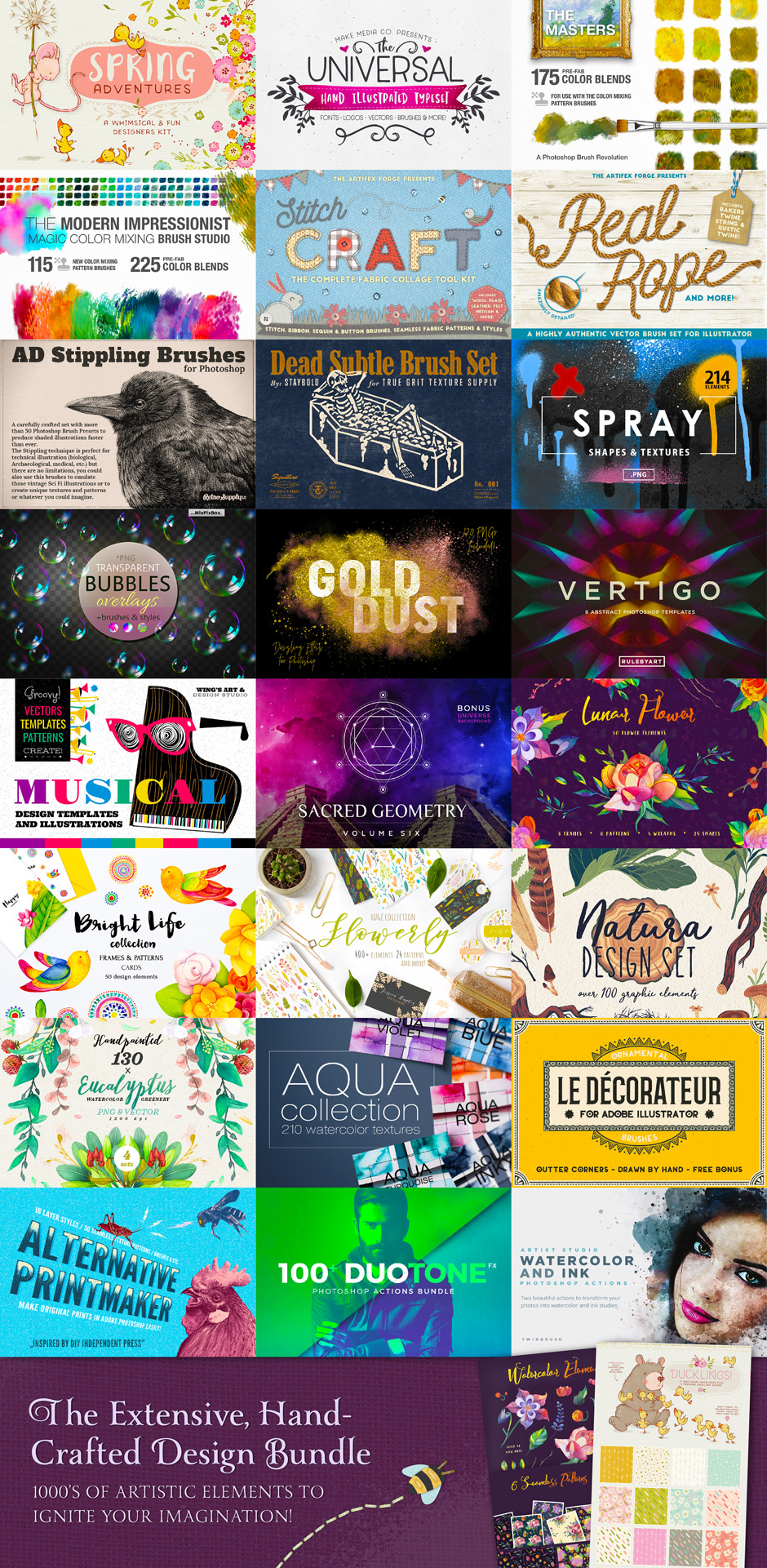 The Extensive Hand-Crafted Design Bundle
