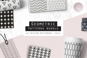 Seamless Geometric Patterns Bundle Vol. 1