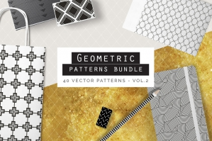 Seamless Geometric Patterns Bundle Vol. 2