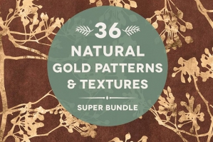 36 Natural Gold Patterns & Textures