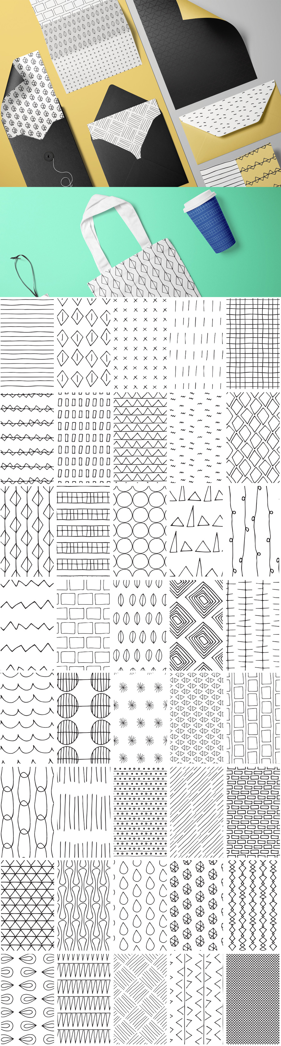 Simple Line Hand-drawn Patterns