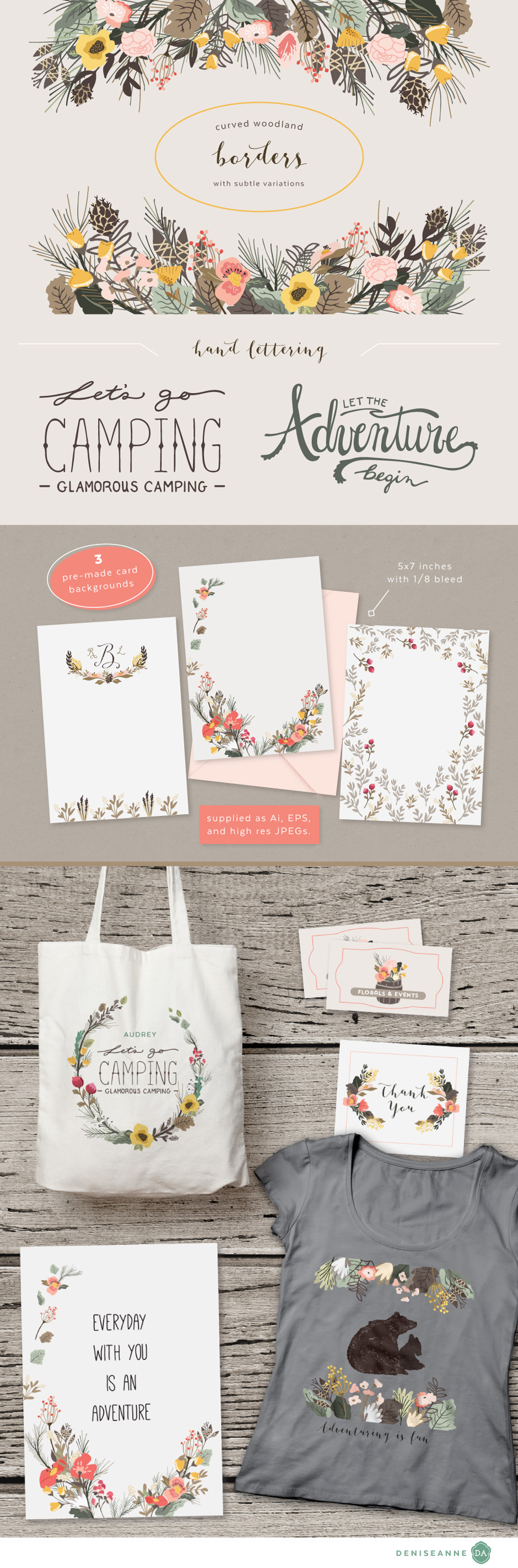 Woodland Florals Thicket Thatch Pack