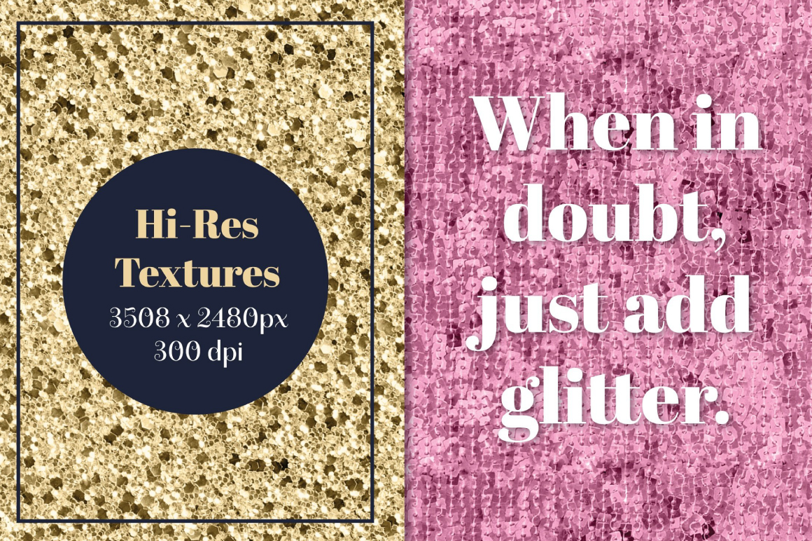 Quick Glitter Textures and Patterns