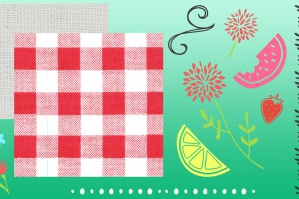 Textures, Patterns & Swirly, Floral and Fruity Vectors