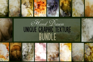 Hand-drawn, Unique Graphic Texture Bundle