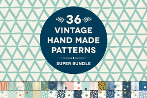 36 Organic Geometry Patterns Bundle