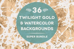 36 Twilight Gold Watercolors