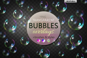 Bubble Overlays Brushes & Styles