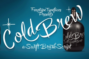 Cold Brew: Swift Brush Script Family