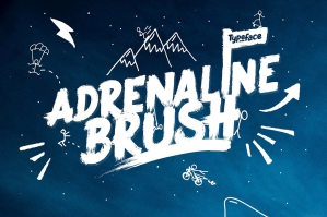 Adrenaline Brush Typeface