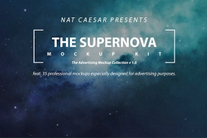 The Supernova Professional Mockups Kit