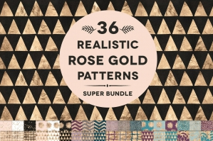 36 Rose Gold Foil Patterns Super Bundle