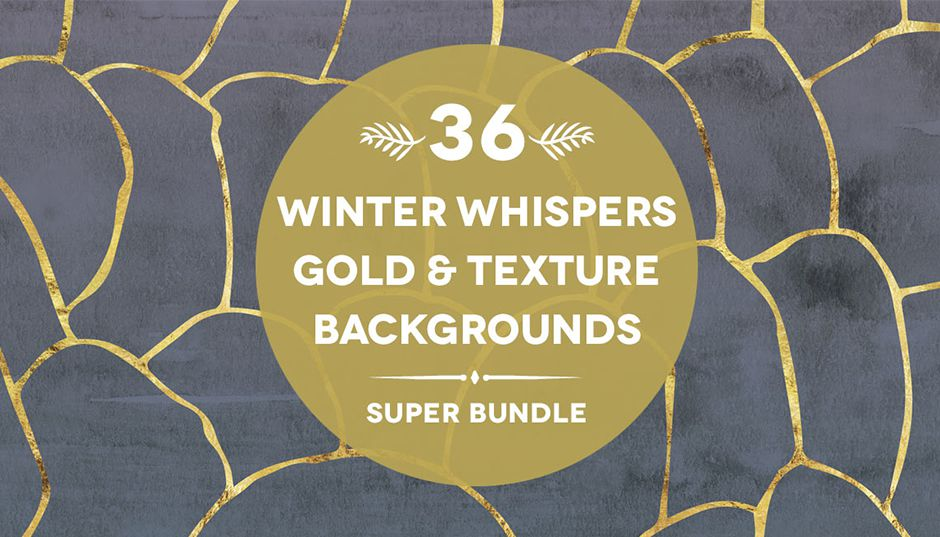 336 Winter Whispers Gold Textures & Patterns