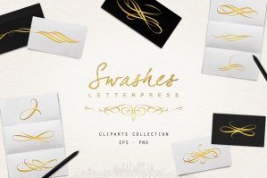 Letterpress Swashes & Clipart