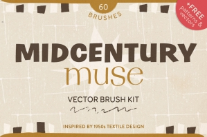 Midcentury Muse Hand Drawn Brush Kit
