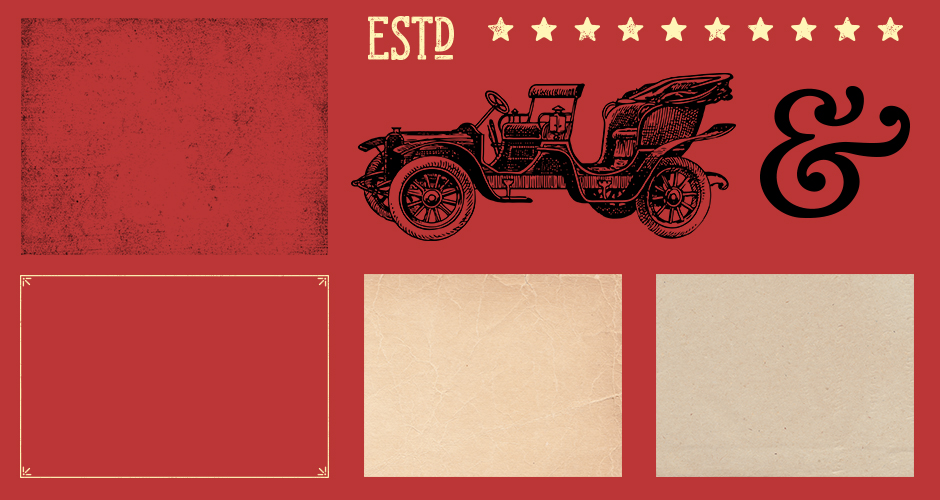Vintage Textures and Vectors Pack