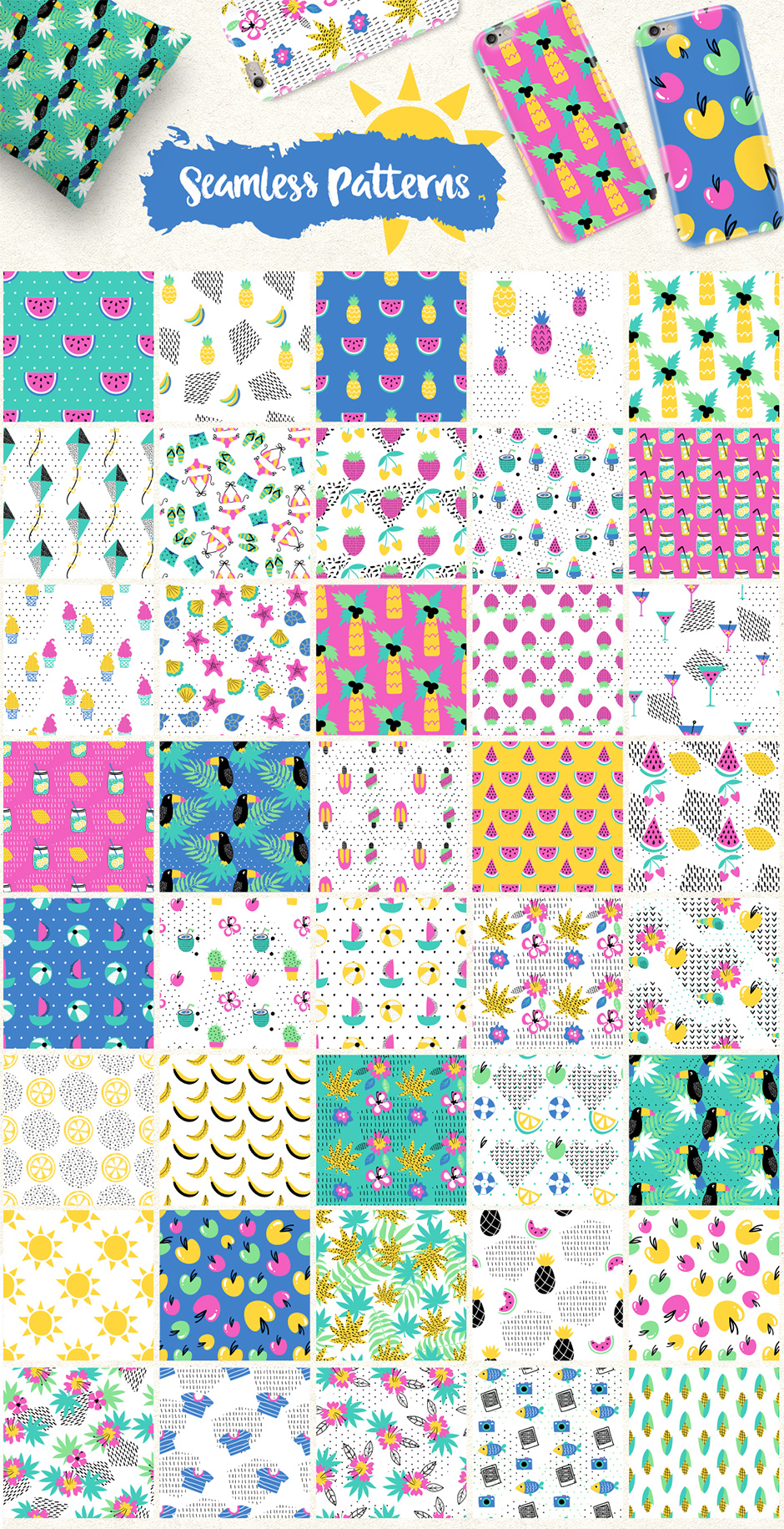 Summer Paradise Big Collection: 285 Summer Elements