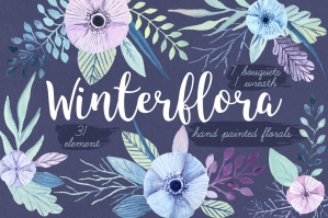 Winterflora: Wintery Floral Set