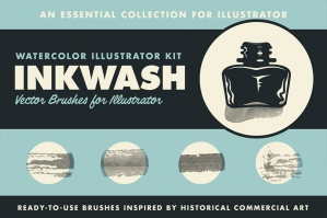 InkWash Watercolor Brushes Set