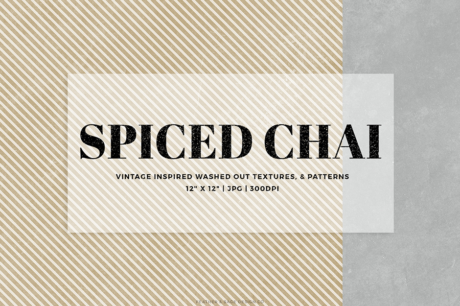 Spiced Chai Digital Papers Set