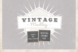 Vintage Medley Digital Frames Set