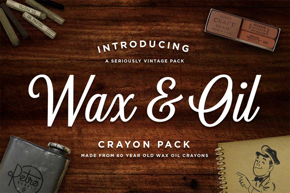 Vector Wax & Oil Crayon Brushes