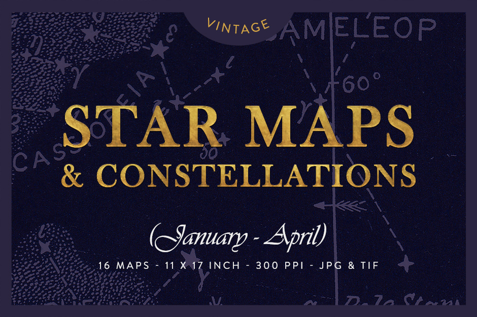 Vintage Star Maps January - Aprile