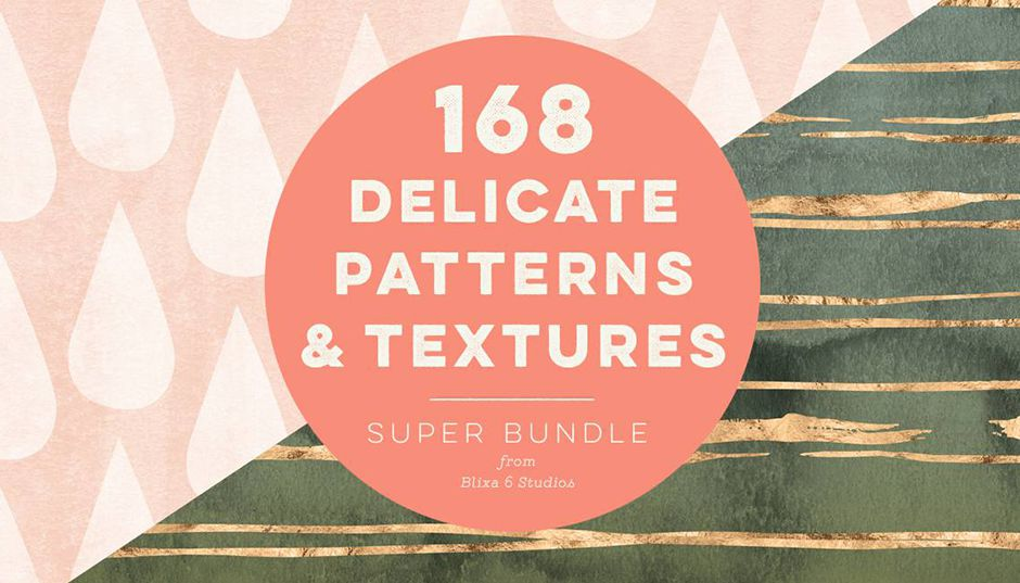 168 Delicate Watercolor Patterns & Textures