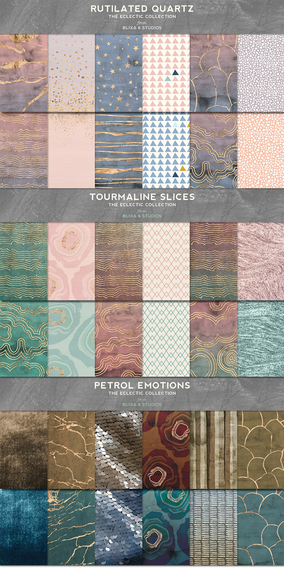 168 Marble Patterns & Textures