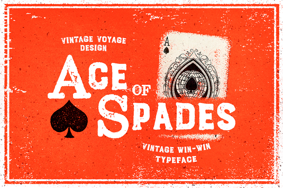Ace of Spades Serif And Sans Typeface