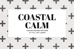 Coastal Calm Digital Papers