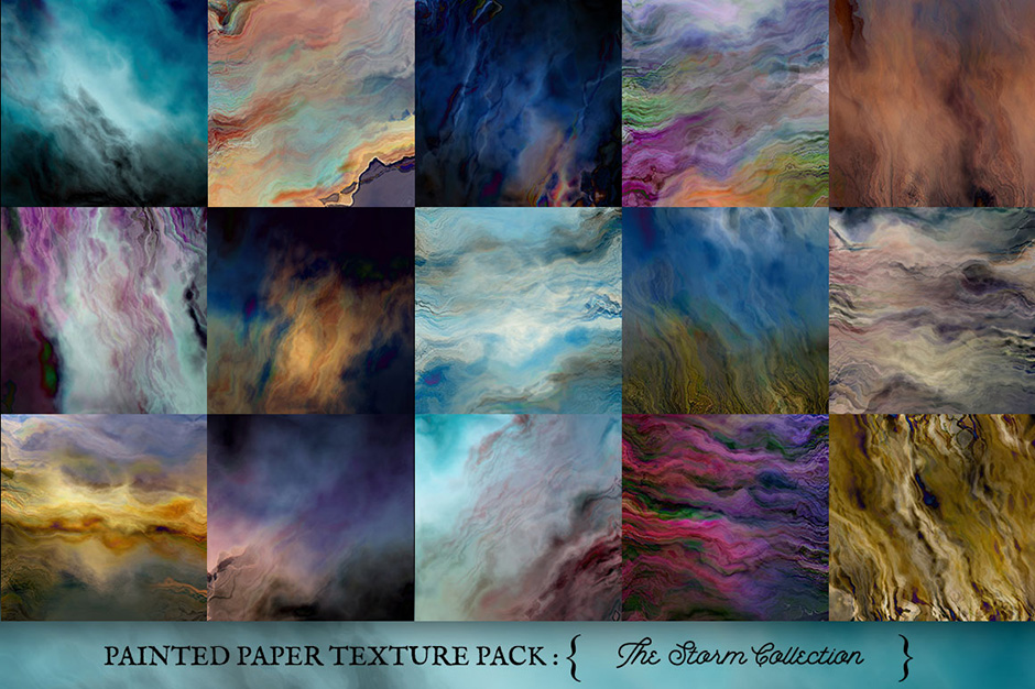 Painted Paper Texture Storm