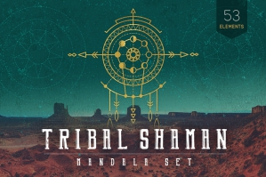 Mandala Set Tribal Elements & Shaman
