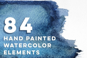 84 Handmade Digital Watercolor Graphics