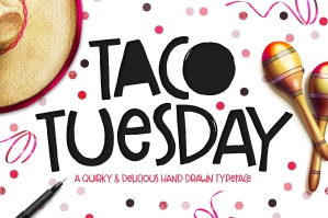 Taco Tuesday: Hand Drawn Font